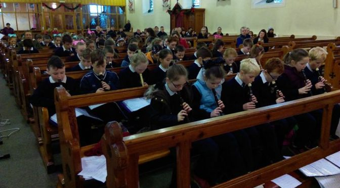 Christmas 2016 Recorder Recital by pupils from Third to Sixth Class