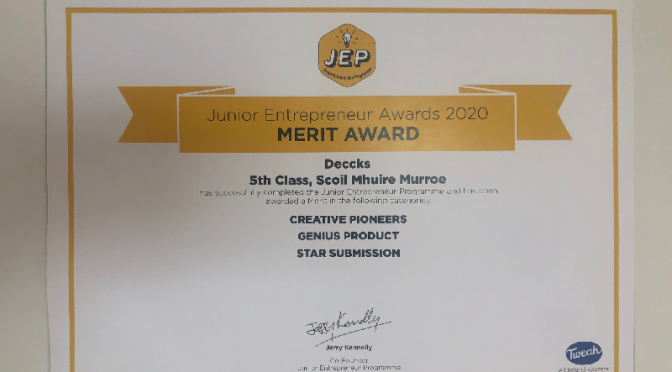Junior Entrepreneur merit Award
